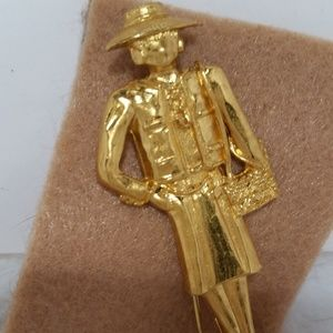 "AUTHENTIC CHANEL BROOCH OF ""COCO CHANEL"""